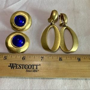 Gold tone Clip On Earring Bundle (2)